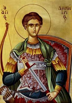 Pomenirea Sfântului slăvitului Marelui Mucenic Dimitrie