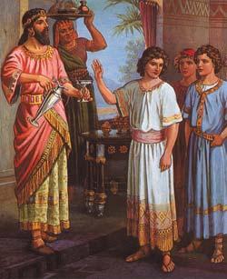 Daniel şi cei trei tovarăşi ai lui, Anania, Azaria şi Mişael
