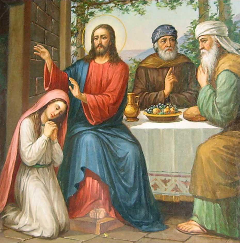 Maria la picioarele Domnului