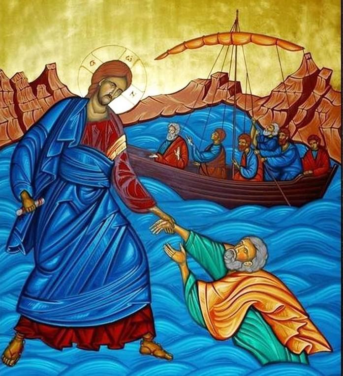 Iisus pe ape