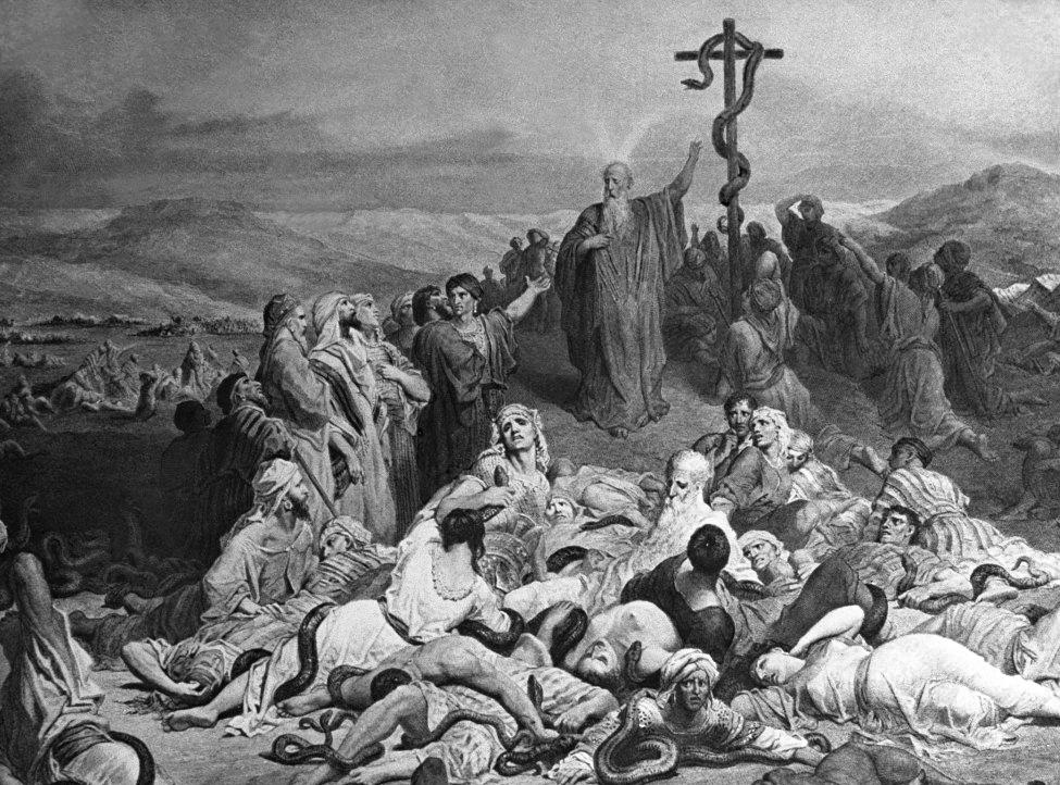 Şarpele de aramă în pustie – un semn care preînchipuia Crucea cu Domnul Iisus Răstignit
