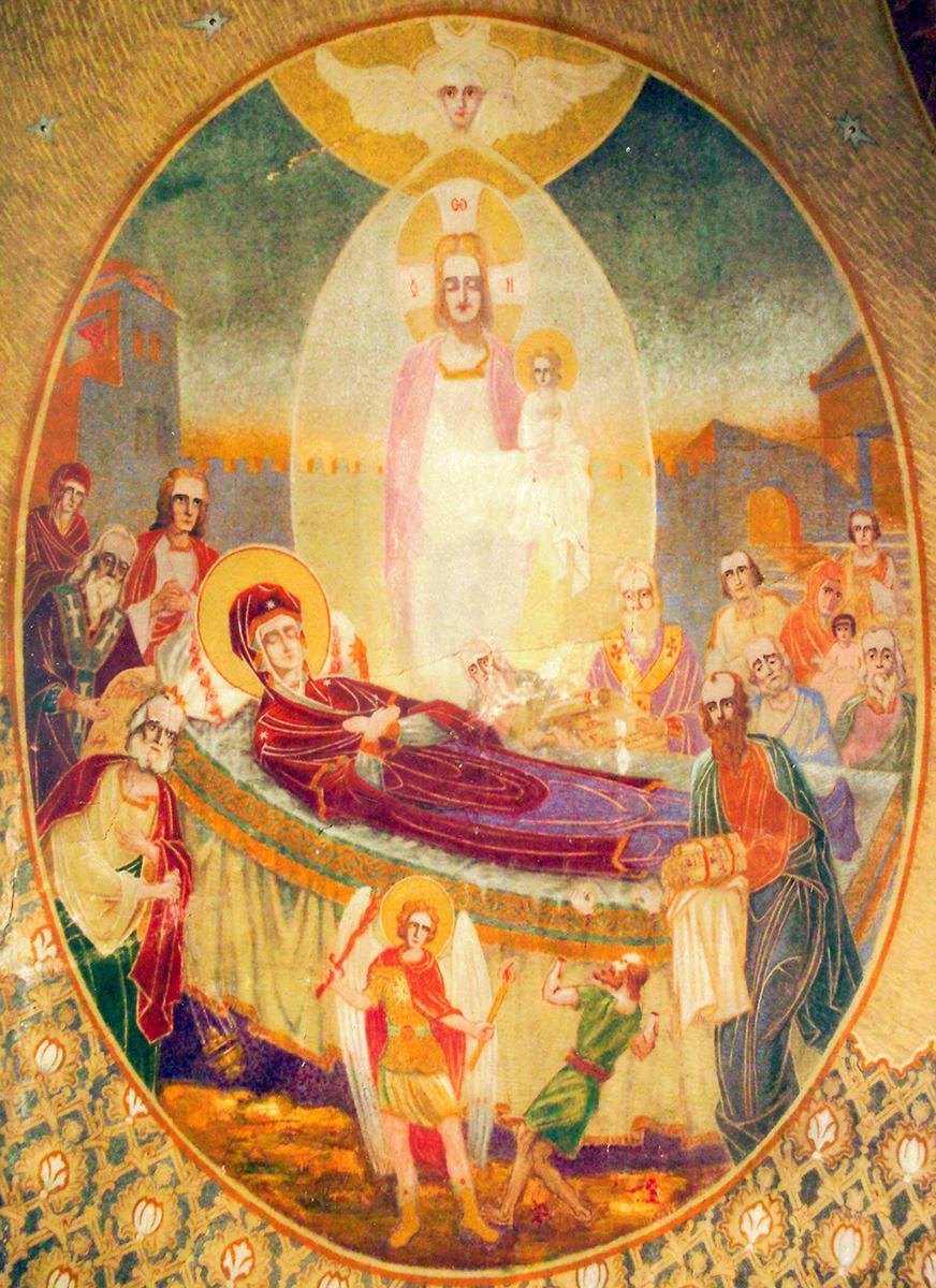 La Mormântul Preacuratei Născătoare de Dumnezeu