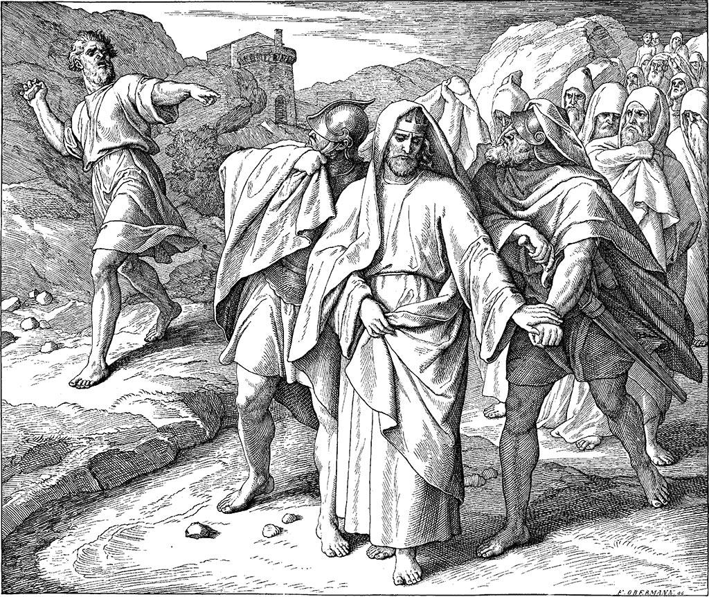 DAVID ÎL LASĂ PE ŞIMEI ÎN JUDECATA DOMNULUI